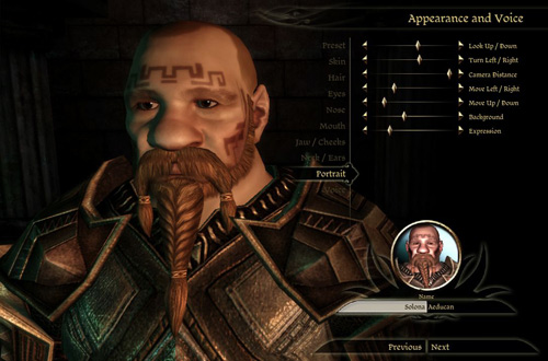 Dragon Age Character Creator
