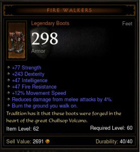 I'd bet this item would sell in the Diablo 3 auction house for less than an identical piece with 2 more armor --less than you'd expect from math alone.