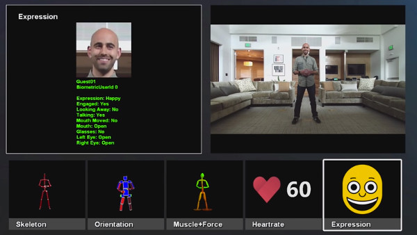 How Kinect sees you: a pulsing sack of meat and emotions. (Image from Wired's Kinect demonstration.)