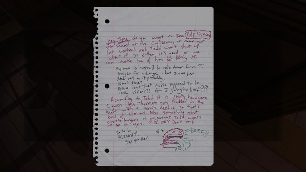 Gone Home requires you to stay involved by piecing the story together from bits you find around the house.