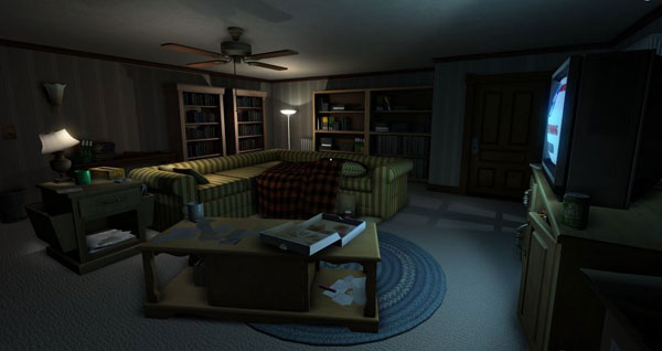 Gone Home's game world is relatively small, but incredibly dense and rich