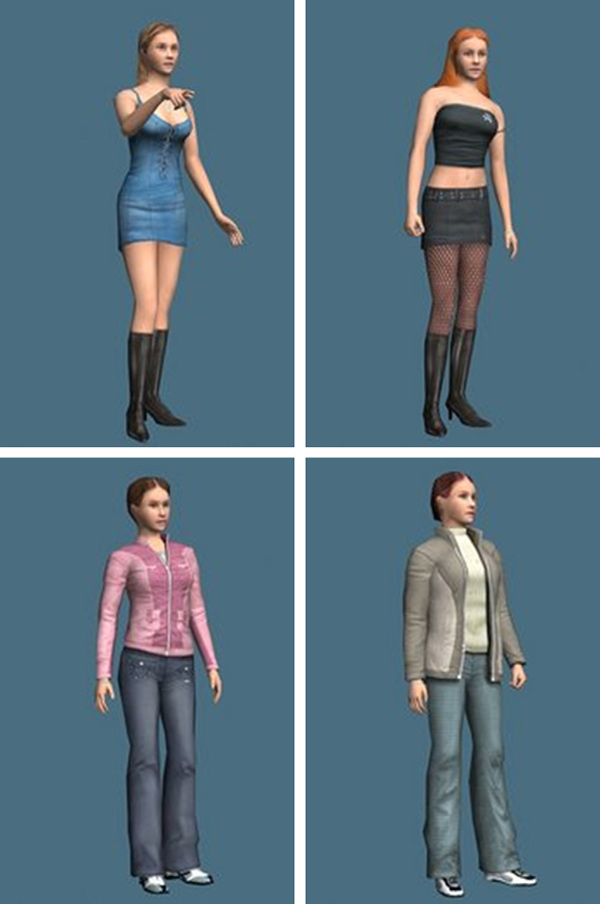Sexualized avatars (top row) and nonsexualized (bottom row). Taken from Fox et al. (2013).