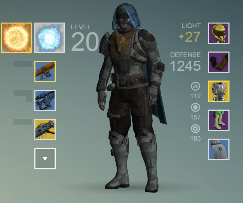 My hunter and his hard earned gear.